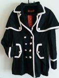 バイカラーコート黒L