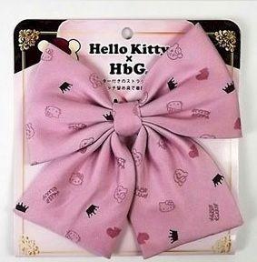HbG×キティ スクールリボン  ピンク