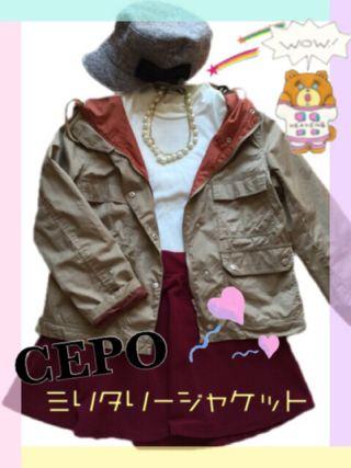 CEPOミリタリージャケット*送料無料