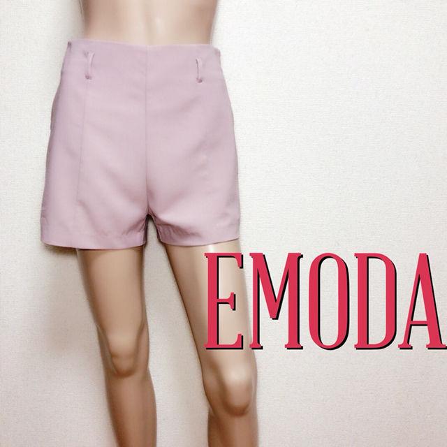 もて服エモダ ハイウエスト きれいめショートパンツ(EMODA(エモダ) ) - フリマアプリ&サイトShoppies[ショッピーズ]