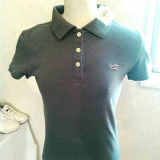 新品ホリスター・ポロシャツ グレー・Sサイズ
