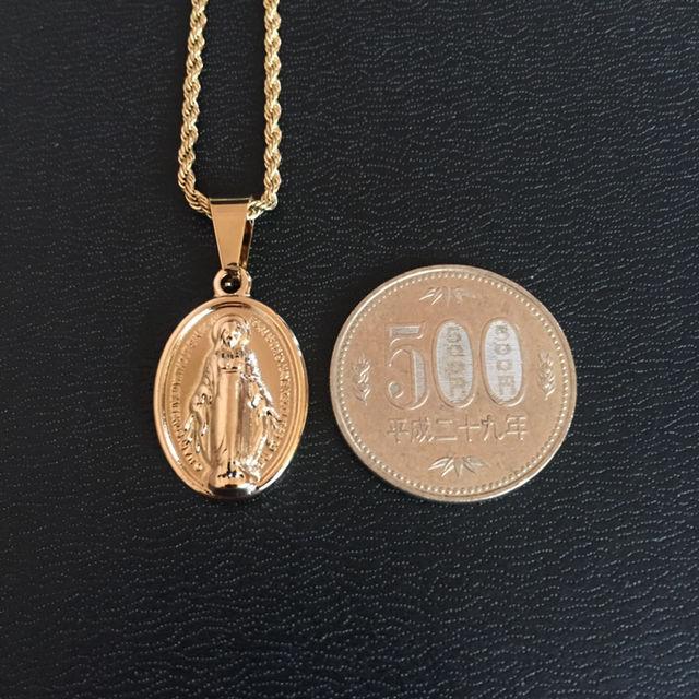 ネックレス フレンチロープチェーン 45cm 聖母マリア