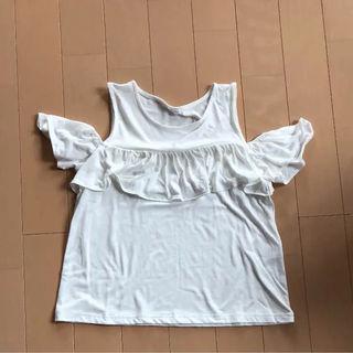 タンクトップ 袖あり 白 M