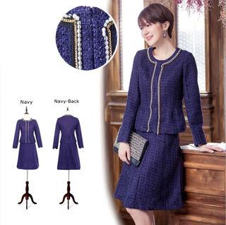 お嬢様風♪★ツィード 2枚セット  ドレス スーツ★