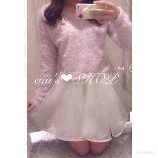 *【美品】evelyn オーガンジースカート*