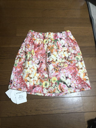 SHAKESHAKE花柄ハイウエストスカート