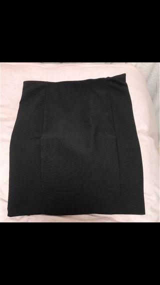 スウェットスカート ブラック 膝丈