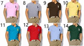 高質新品POLOポロ ラルフローレンTシャツ男性用14色