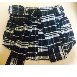 チェックシャツ風 スカート キュロット