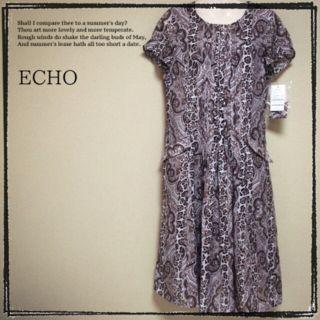 【ECHO】新品 フレアワンピース