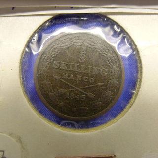 スウェーデン古いコイン☆1845年物