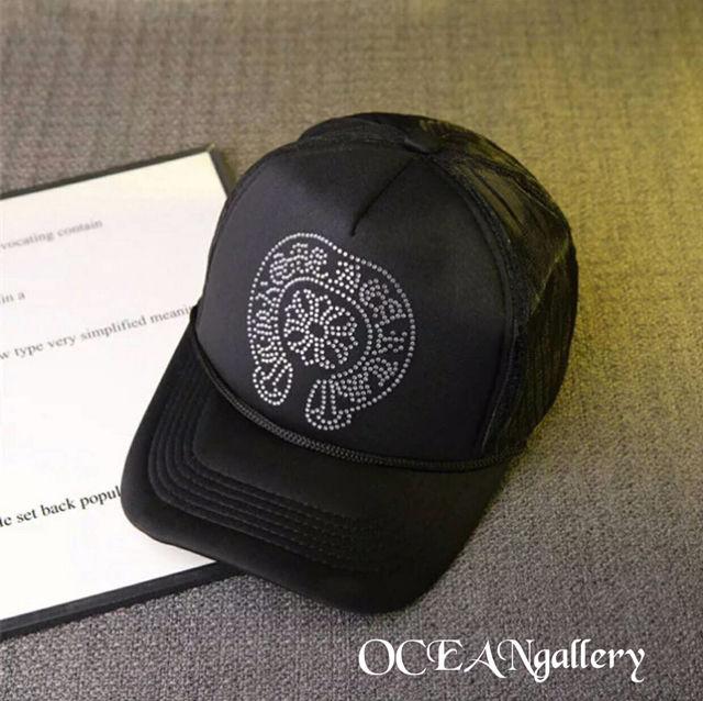 ブラック黒 クリアラインストーン クロス十字架 キャップ帽子 - フリマアプリ&サイトShoppies[ショッピーズ]