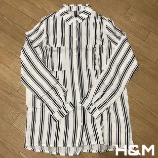 H&M レーヨン ストライプ シャツ