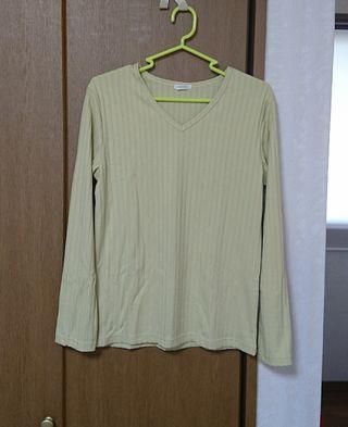 テレコVネックTシャツ