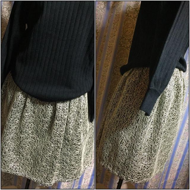 シルバーデザインスカート