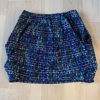 新品 rienda プリント柄ラップスカート
