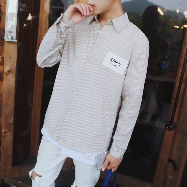 シャツ新品メンズシャツ長袖カジュアルおしゃれ D7-2 - フリマアプリ&サイトShoppies[ショッピーズ]