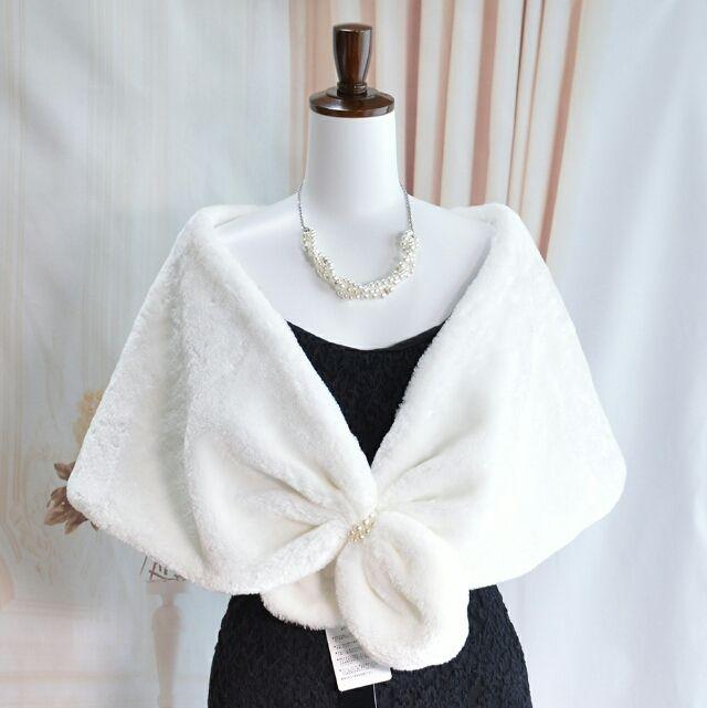 c142a93e15279 新品4カラー ホワイト ファーケープ ドレス ショール - フリマアプリ サイトShoppies ショッピーズ