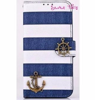 ボーダー柄&船乗りiPhone6 Plus用