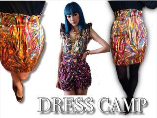 DRESS CAMP デザイン柄スカート