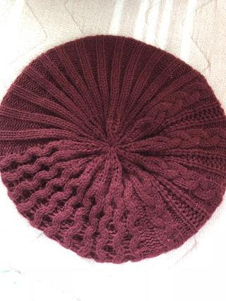 グリーンパークス  ベレー帽 ボルドー