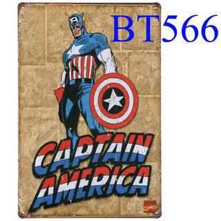 ブリキ看板CAPTAIN AMERICA [BT566]