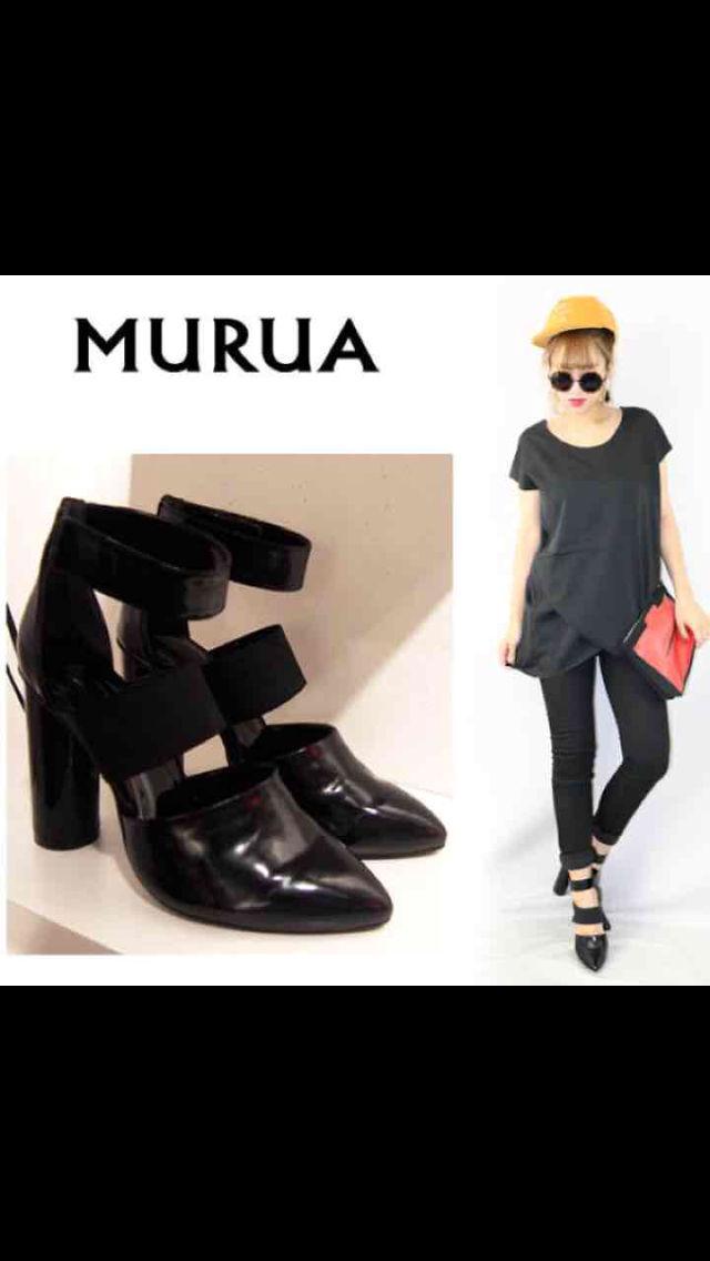 【送料込】MURUA 太ヒールパンプス