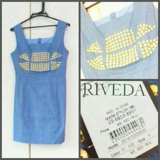 RIVEDA スタッズデニムワンピース新品 定価8000円