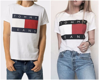 トミー半袖 Tシャツ 男女兼用★激安 カップル