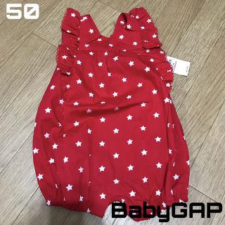 新品未使用 baby GAP 星柄 フリル ロンパース