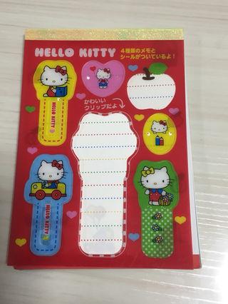 キティちゃんメモ帳 クリップ付き