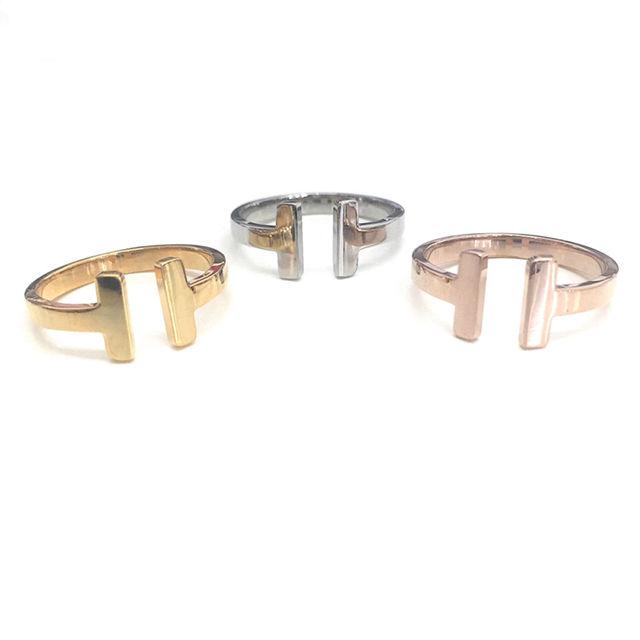 チタンステンレスT字指輪 サイズ調整可能 - フリマアプリ&サイトShoppies[ショッピーズ]