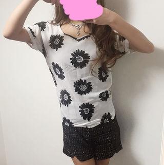 SWORDFISH 花柄 シフォン Tシャツ