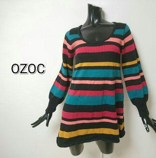 OZOC*ボーダーワンピース