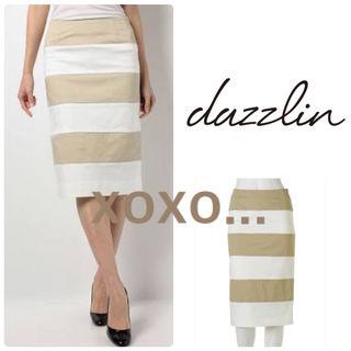新品 dazzlin ビックボーダースカート
