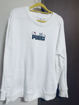 ハローキティ PUMA クルースウェット ホワイト