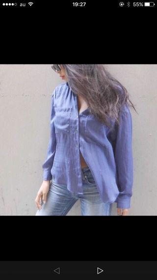 gyda サテンシャツ