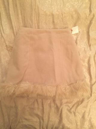 498 LUXE ROSE 裾ファースカート 美品