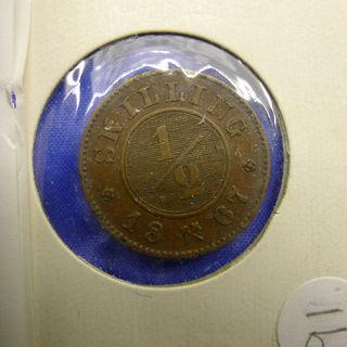 1867年ノルウェー☆古いコイン☆アンティーク