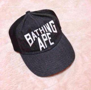 A BATHING APE フルロゴデニムキャップ新品