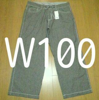 新品 W100 H113 股下72 シワ加工 大きいサイズ