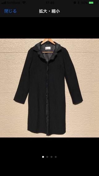 M-PREMIER BLACK コート 黒 ブラック 38