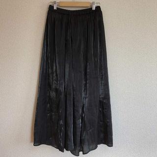 PAGEBOY 光沢ロングスカート