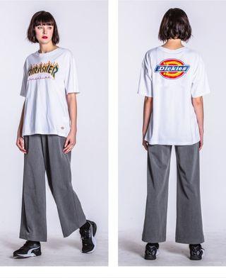 人気美品 THRASHER&DICKIESTシャツth-02