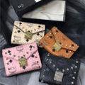人気美品 男女兼用 3つ折り短財布 4色