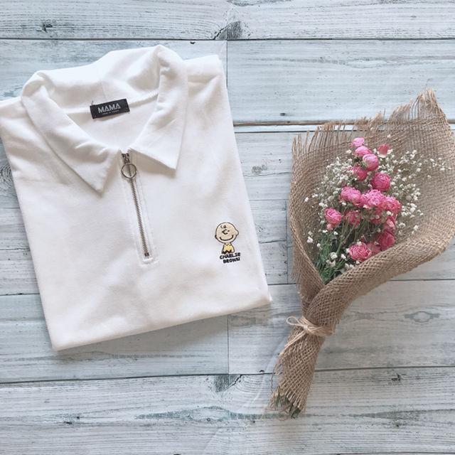 新品 チャーリーブラウン 刺繍 韓国 Tシャツ(DHOLIC(ディーホリック) ) - フリマアプリ&サイトShoppies[ショッピーズ]
