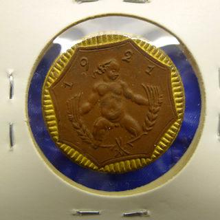 1921年セラミック製☆古いコイン☆ヨーロッパ