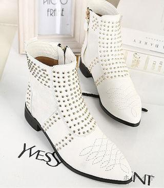 【35】22~22.5cm スタッツ付ブーツ