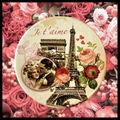 Paris フランス アンティーク レトロ 手鏡 ミラー
