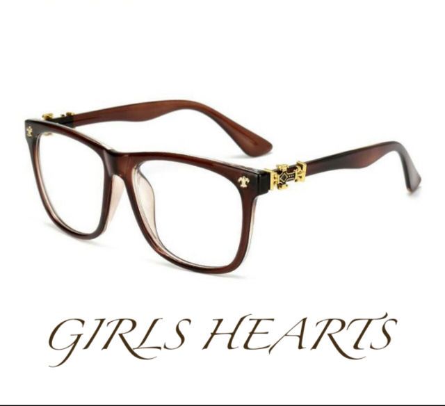 送料無料クロムゴールドブラウン茶クロスフレア眼鏡メガネめがね - フリマアプリ&サイトShoppies[ショッピーズ]